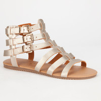 Celebrity Nyc Olive Womens Sandals Gold  In Sizes
