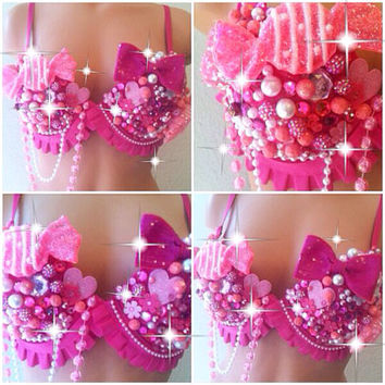 Pink Candy Crush Rave Bra