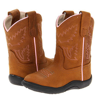 Old West Kids Boots Tubbies (Infant/Toddler) Light Distress - Zappos.com Free Shipping BOTH Ways