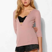 Project Social T High-Button Henley Top-