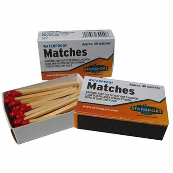 Waterproof Matches 40-Pack
