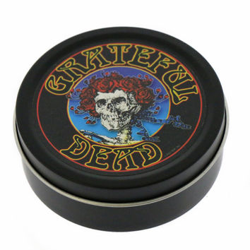 Round Skeleton & Roses Grateful Dead Tin