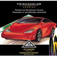Sanford(R) Prismacolor(R) Professional Art Markers, Primary/ Secondary Colors, Set Of 12