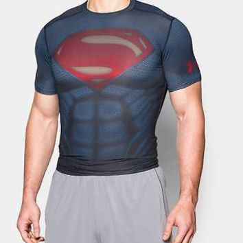 Under Armour UA Mens Alter Ego Superman Compression Shirt - Mens M, L, XL or XXL
