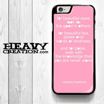 Audrey Hepburn for iPhone 4 4S 5 5S 5C 6 6 Plus , iPod Touch 4 5  , Samsung Galaxy S3 S4 S5 S6 S6 Edge Note 3 Note 4 , and HTC One X M7 M8 Case
