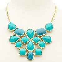 Color Block Bib Necklace: Charlotte Russe