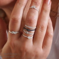 """New! Silver Rope Knot Ring - Thin Stacking Rings - Frienship Ring - Love Knot - Soft Fine Silver Rings - """" With Only a Rope """" Collection"""