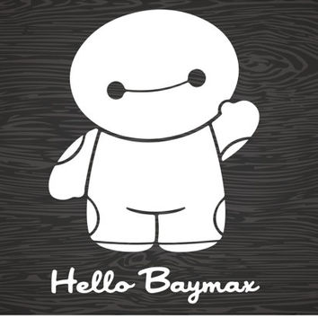 hello baymax vinyl decal sticker, big hero 6, free shipping!