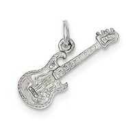 Electric Guitar Charm in Sterling Silver