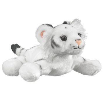 7 Inch White Tiger Finger Puppets Stuffed Animals Conservation Collection