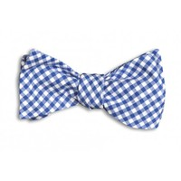 Royal Blue Gingham Bow Tie in Blue and White by High Cotton