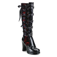 Amazon.com: 4 Inch Mini Platform Sexy Knee High Boots Gothic Boots Buckles Chunky Heel: Shoes
