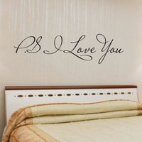 I Love You Removable Art Vinyl Mural Home Room Decor Wall Stickers For Living Room for kids rooms adesivos de parede