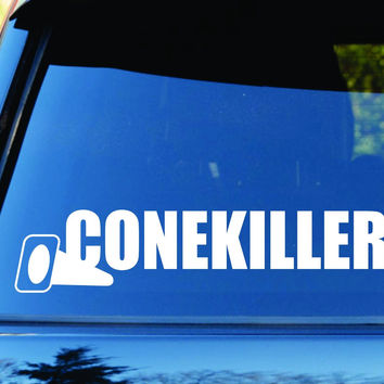 Cone Killer Car Truck Window Windshield Lettering Decal Sticker