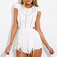 Candy Girl Playsuit White