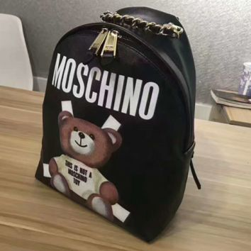 """""""MOSCHINO"""" Casual Sport Laptop Bag Shoulder School Bag Backpack G-A-GHSY-1"""