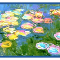 Water Lilies in Bloom Runner inspired by Claude Monet's impressionist painting Counted Cross Stitch or Counted Needlepoint Pattern