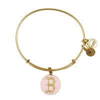 Alex and Ani Pink Boston Red Sox™ Cap Logo Charm Bangle - Russian Gold
