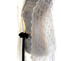 Rock Goddess vintage shawl, Stevie Nicks Crochet wrap
