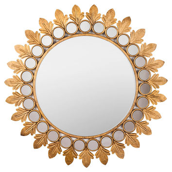 Mirrors, Leaf Wall Mirror, Gold Leaf, Wall Mirrors