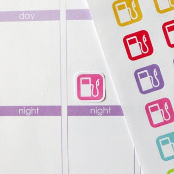 54 Gas Pump Stickers for Erin Condren Planner, Filofax, Plum Paper