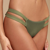 Billabong Meshin' With You Olive Green Mesh Bikini Bottom