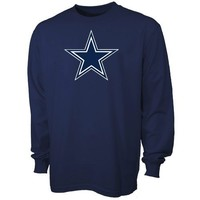 Dallas Cowboys Navy Blue Primary Logo Long Sleeve T-shirt