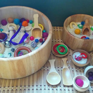 Montessori and Waldorf Inspired Sensory Bowl
