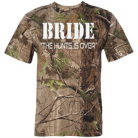 """Bride -Hunt Is Over"" Short Sleeve Camouflage TShirt (Men's Sizes)"