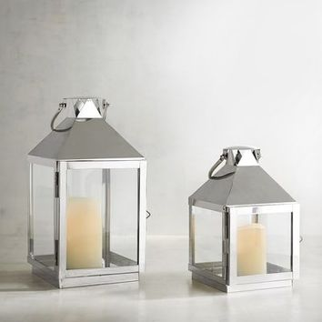 Chrome Square Lanterns