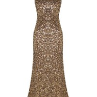 Long sleeveless paillettes dress