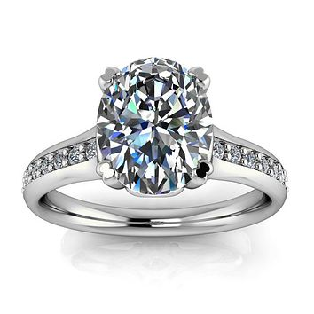 Oval Moissanite Engagement Ring - Ella