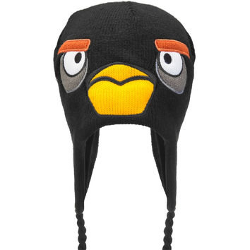 Angry Birds - Black Bird Big Face Peruvian Knit Hat