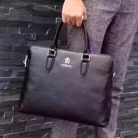 VERSACE MEN'S NEW STYLE LEATHER BRIEFCASE BAG