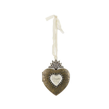 Daughter Heart Locket Ornament by Demdaco