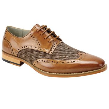 "Giovanni ""Ethan"" Wingtip with Herringbone Vamp"