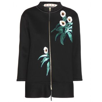 marni - embellished neoprene jacket