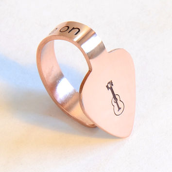Copper Thumb Pick with You Tune Me On – Thumb and Finger Guitar Picks