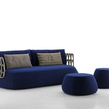UPHOLSTERED GARDEN SOFA FAT-SOFA OUTDOOR | SOFA | B&B ITALIA OUTDOOR, A BRAND OF B&B ITALIA SPA