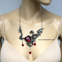 Game of Thrones Inspired Rhinestone Dragon Necklace