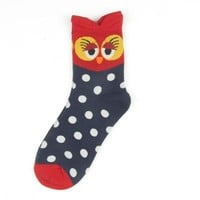 Cartoons Owl Lovely Emoji Cotton Socks 5 pair/set [46977843212]