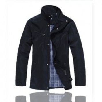 Leisure Style High Quality Stand Collar Long Jacket For Male China Wholesale - Sammydress.com