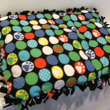 Polka Dot Paw Dog Bed