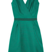 Giambattista Valli | Silk-shantung wrap-effect dress | NET-A-PORTER.COM