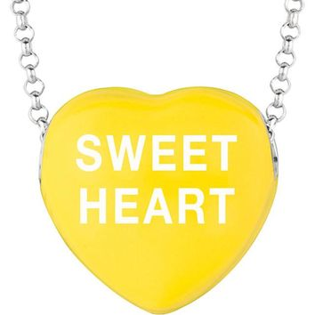 "Sweethearts® Yellow Enamel ""Sweet Heart"" Heart on 16"" Necklace with Gift Box"