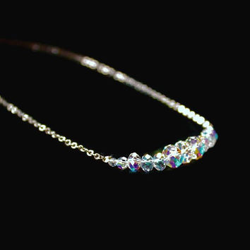 Kirk's Folly Graduated Aurora Borealis Crystal Necklace