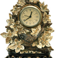 """0-026888>8""""h Ivy Finch Clock Brown/Gold"""