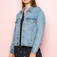 Kaylee Denim Jacket - Outerwear - Clothing