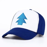 Trendy Winter Jacket VORON New Cotton tree embroidery Gravity Falls U.S Cartoon Mabel Dipper Pines Cosplay Cool Baseball Caps Adjustable Sport Hat AT_92_12