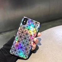 Geometric Chameleon Reflective Case For iPhone X 8 8Plus 7 7Plus 6 6s 6Plus 6s Plus